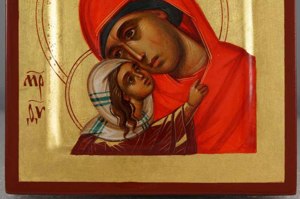 St Anna Anne and Virgin Mary (miniature) Hand-Painted Byzantine Icon
