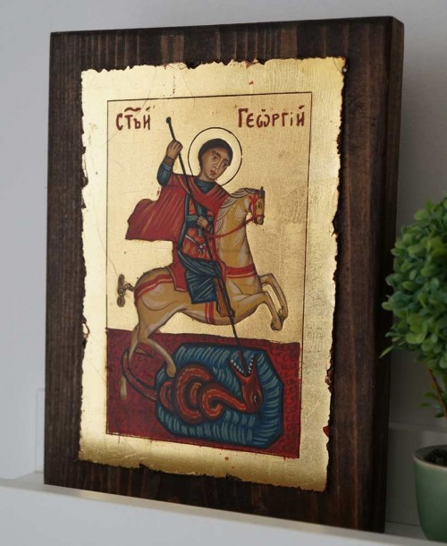 Saint George (small) Hand-Painted Orthodox Icon