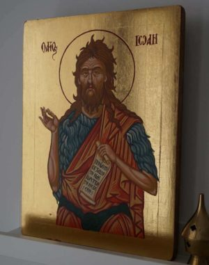 Saint St John the Baptist Forerunner Hand Painted Byzantine Icon