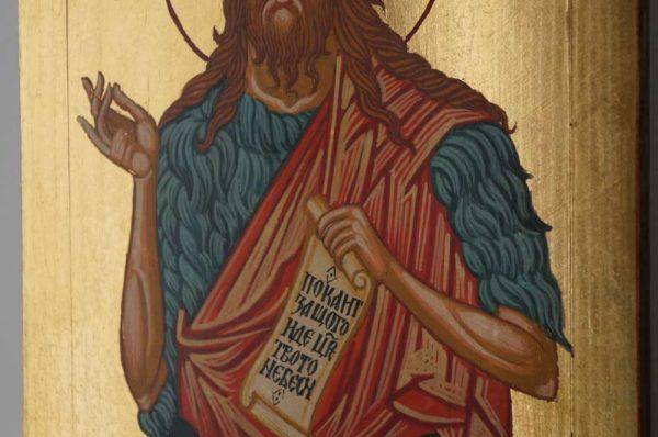 Saint St John the Baptist Forerunner Hand Painted Orthodox Icon on Wood