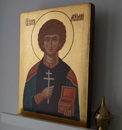 Saint Panteleimon the Healer Hand-Painted Orthodox Icon