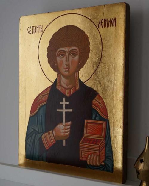 Saint St Pantaleon Panteleimon Pantaleimon Hand Painted Orthodox Icon