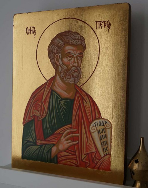 Saint Peter the Apostle Hand-Painted Byzantine Icon