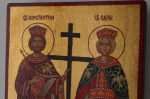Saints Constantine and Helena Hand Painted Orthodox Icon