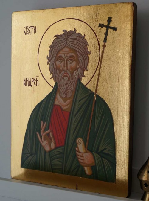Hand-Painted Orthodox Icon of Saint Andrew the First-Called