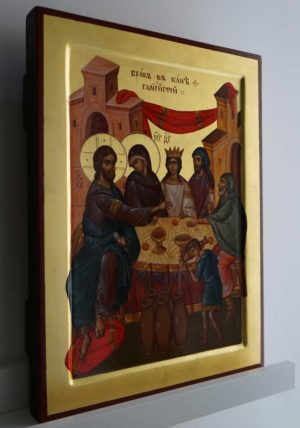 The Wedding at Cana Hand-Painted Orthodox Byzantine Icon