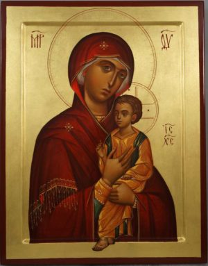 Virgin Mary Hodegetria (Guide) Hand-Painted Byzantine Orthodox Icon