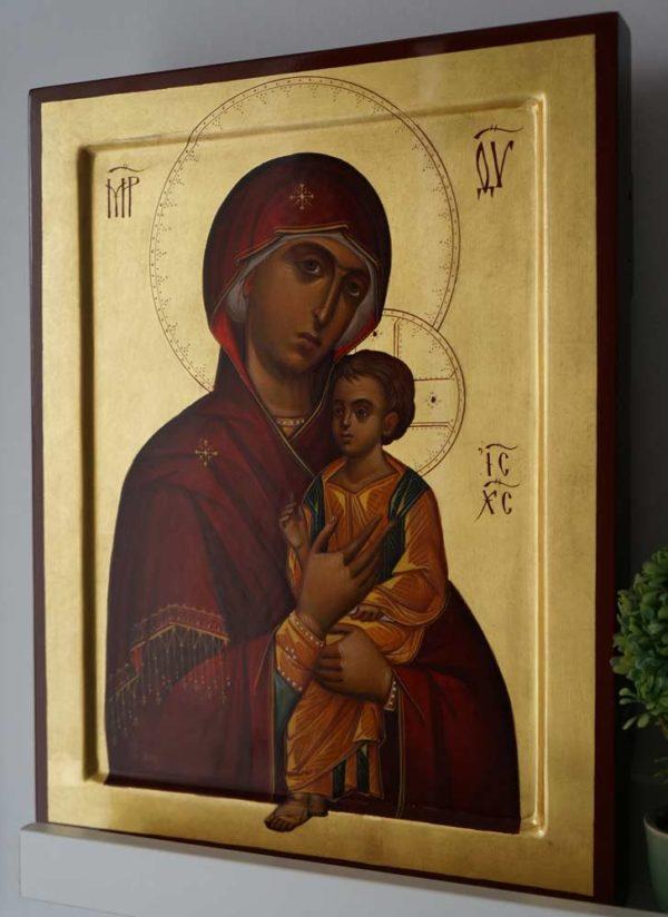 Virgin Mary Hodegetria (Guide) Hand-Painted Byzantine Orthodox Icon