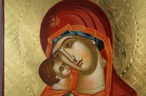 Theotokos of Vladimir (polished gold) Vladimirskaya Hand-Painted Icon