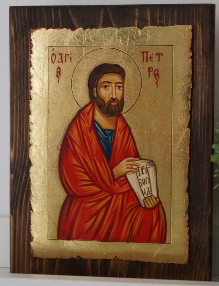 Hand-Painted Orthodox Icon of St Peter the Apostle