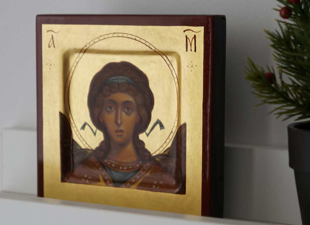 Archangel Michael Miniature Hand-Painted Byzantine Icon