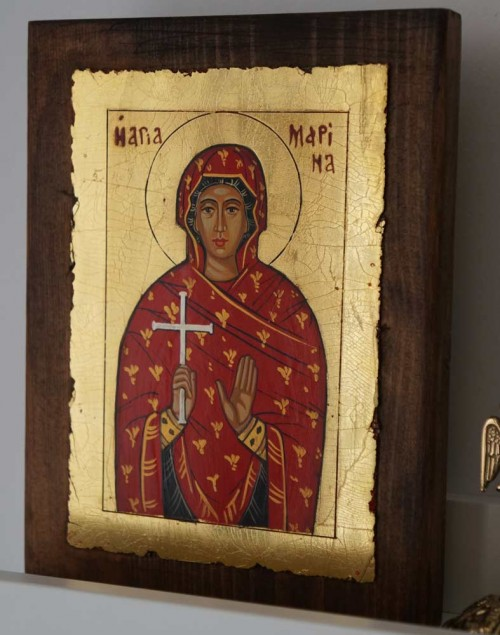 Saint Marina (small) Hand-Painted Greek Orthodox Icon