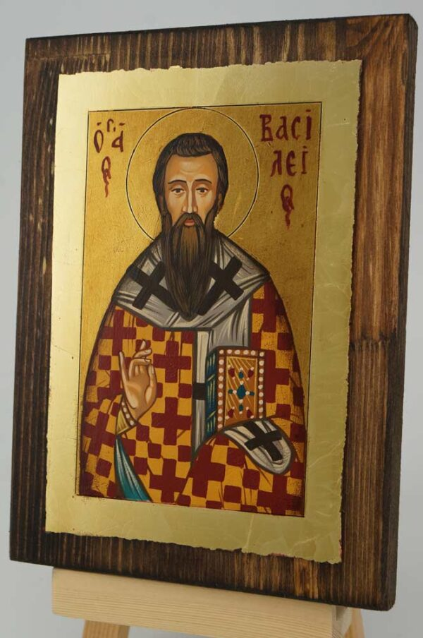 St Basil the Great small Icon Hand Painted Byzantine Orthodox