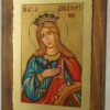 St Catherine of Alexandria small Hand Painted Icon on Wood