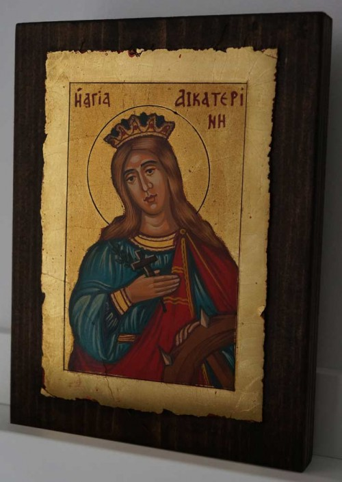 St Catherine of Alexandria small Hand Painted Orthodox Icon