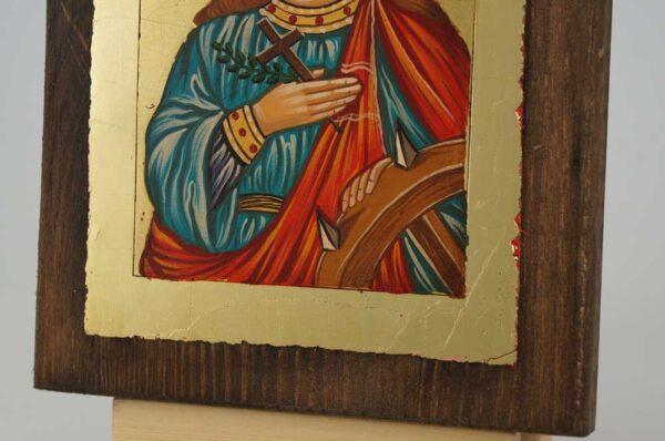 St Catherine of Alexandria small Icon Hand Painted Byzantine Orthodox