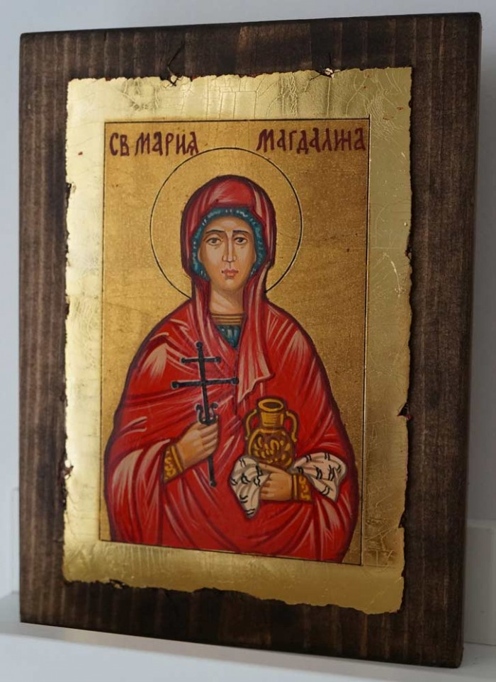 St Mary Magdalene small Hand Painted Orthodox Icon on Wood