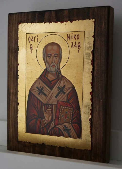 St Nicholas of Myra small Hand Painted Orthodox Icon