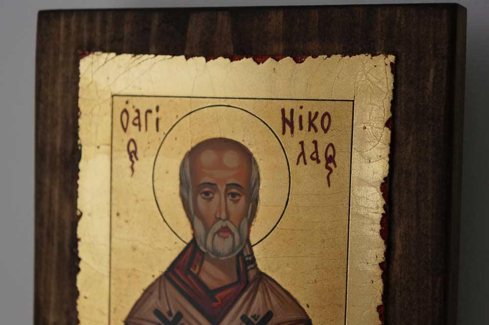 St Nicholas of Myra small Hand Painted Orthodox Icon