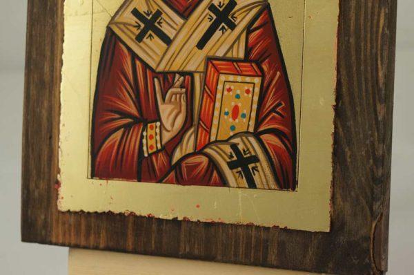 St Nicholas of Myra small Hand Painted Orthodox Icon on Wood