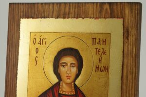 St Panteleimon Great Martyr and Healer Icon Hand Painted Byzantine Orthodox