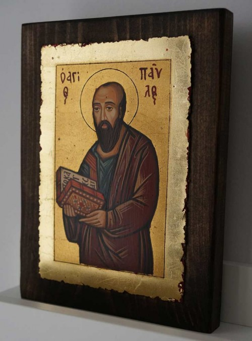 St Paul the Apostle small Hand Painted Orthodox Icon