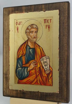 St Peter the Apostle small Hand Painted Icon Byzantine Orthodox
