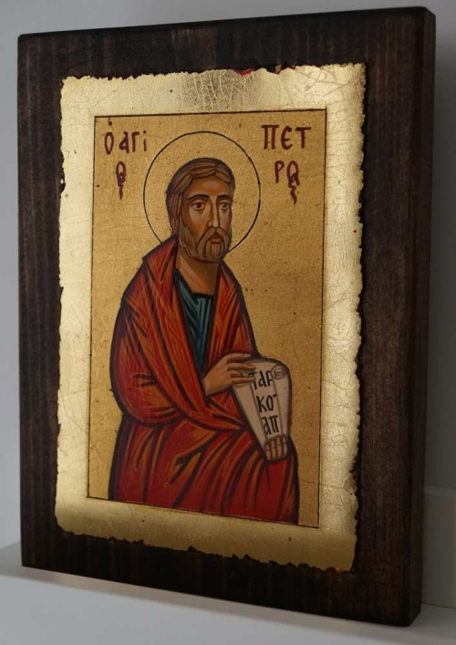 St Peter the Apostle small Hand Painted Orthodox Icon on Wood