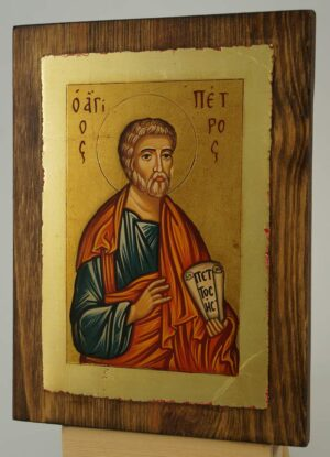 St Peter the Apostle small Icon Hand Painted Byzantine Orthodox
