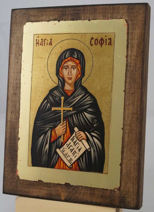 St Sophia the Martyr small Hand Painted Icon Byzantine Orthodox