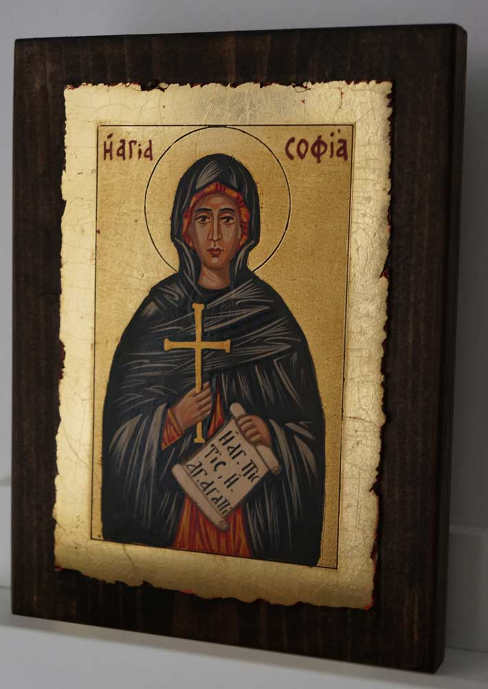 St Sophia the Martyr small Hand Painted Orthodox Icon