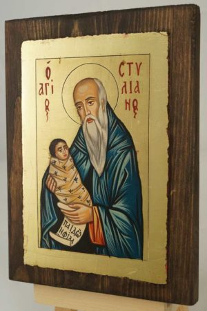 St Stylianos The Protector of Children Hand Painted Orthodox Icon