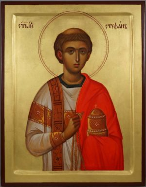 Saint Stephen the Protomartyr Hand-Painted Byzantine Orthodox Icon