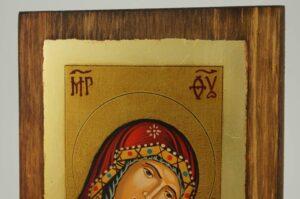 Theotokos Sweet Loving small Icon Hand Painted Byzantine Orthodox