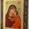 Theotokos Tenderness small Hand Painted Byzantine Icon