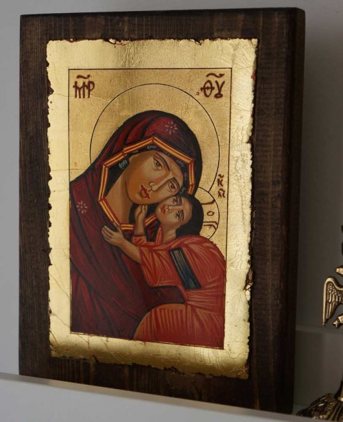 Theotokos Tenderness (small) Hand-Painted Byzantine Icon