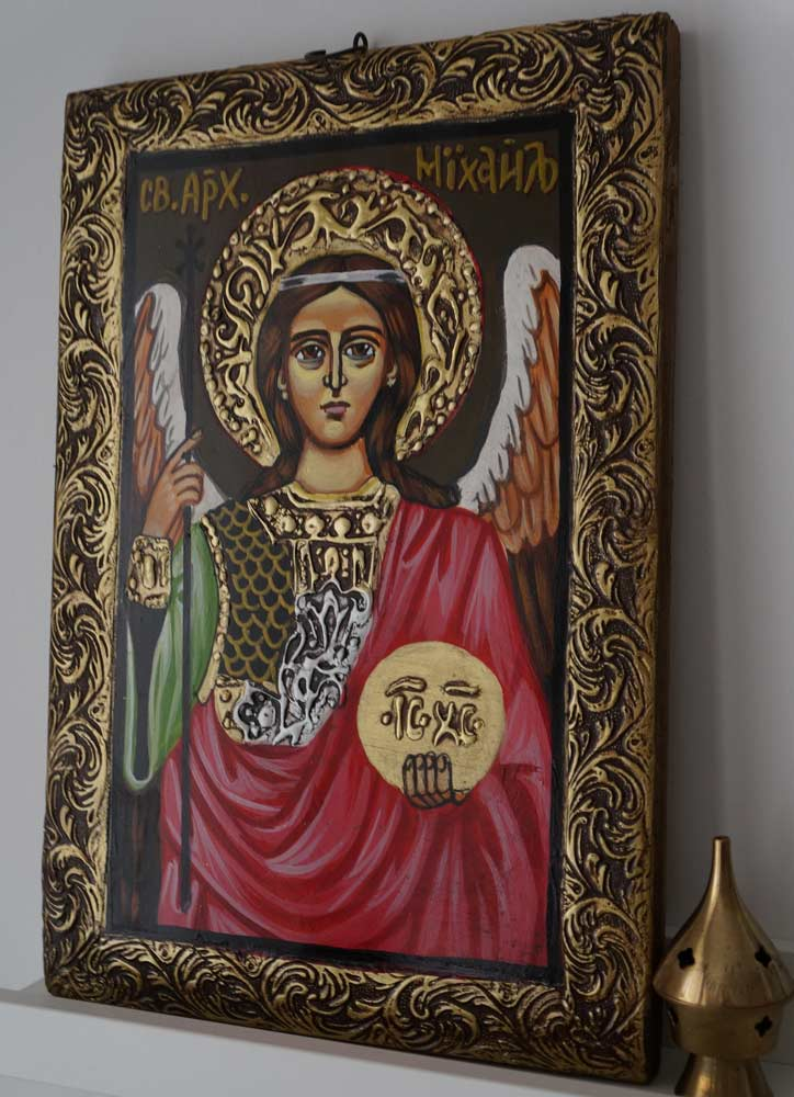 Saint Archangel Michael Hand-Painted Byzantine Icon