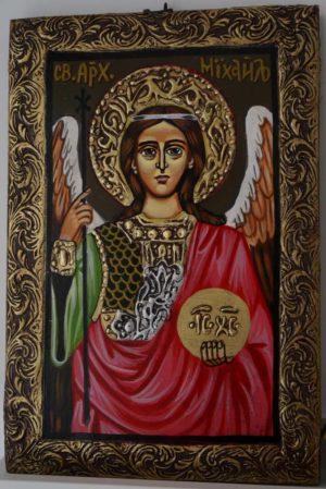 Saint Archangel Michael Hand-Painted Byzantine Icon