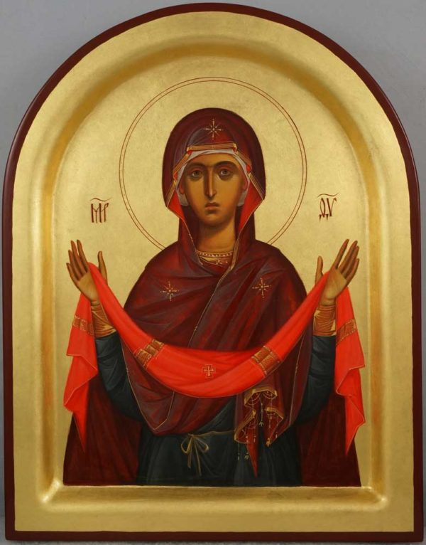 Protection of the Theotokos Hand-Painted Orthodox Icon