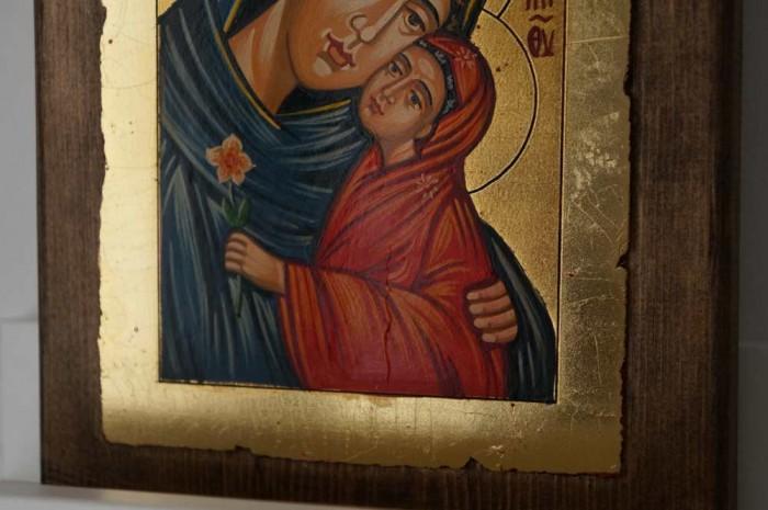 Saint Anna small Hand Painted Orthodox Icon on Wood