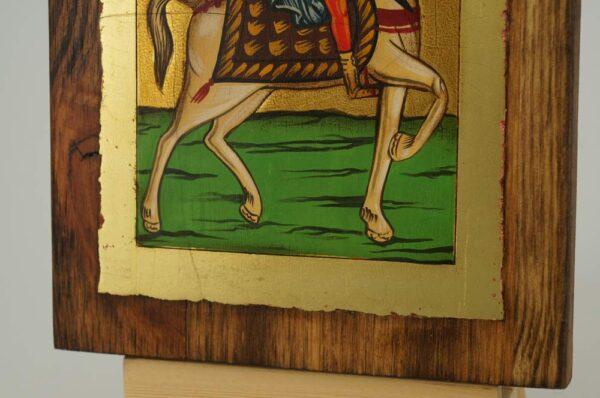 Saint Menas on Horse small Icon Hand Painted Byzantine Orthodox