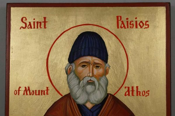 Hand-Painted Orthodox Icon of St Paisios of Mount Athos