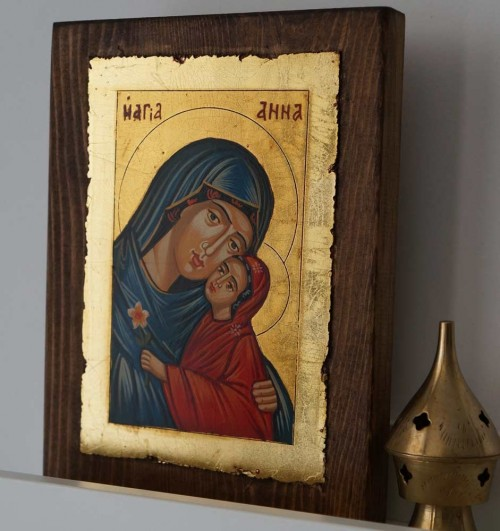 Saint Anna (small) Hand-Painted Orthodox Icon
