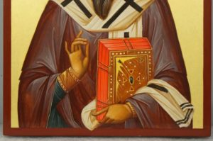 Saint Basil the Great Hand-Painted Byzantine Icon