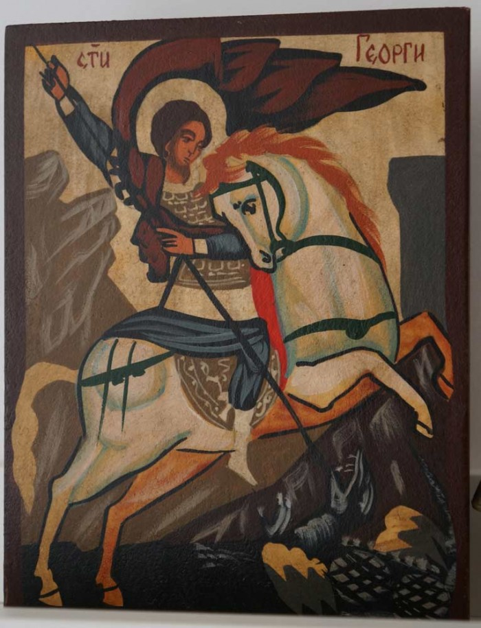 Saint George on Horse (small) Hand-Painted Orthodox Icon
