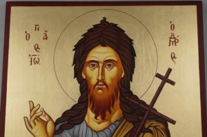Hand-Painted Byzantine Icon of St Prophet John Forerunner (Large)