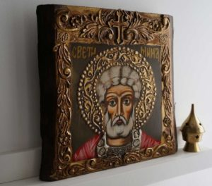 Saint Menas (small) Hand-Painted Orthodox Icon