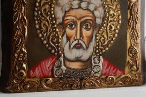 Saint Menas (small) Hand-Painted Orthodox Icon