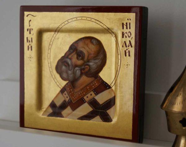 St Nicholas of Myra (miniature) Hand-Painted Byzantine Icon
