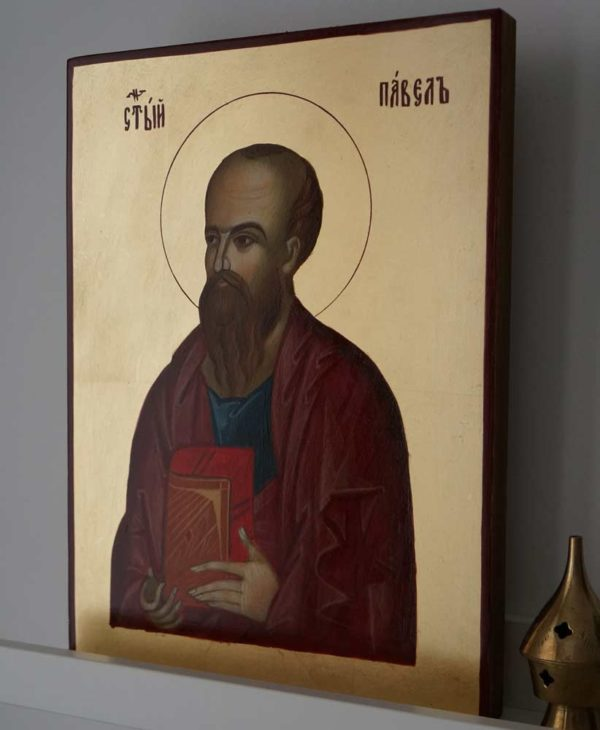 Hand-Painted Byzantine Icon of St Paul the Apostle